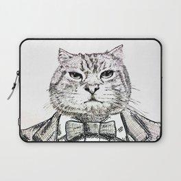 gentleman cat Laptop Sleeve