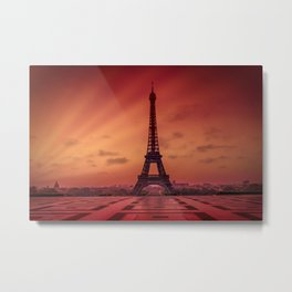 Eiffel Tower at Sunrise Metal Print
