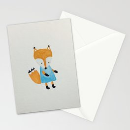 Forest Friends Watercolor Little Fox Stationery Cards