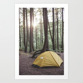 Camp Vibes II Art Print
