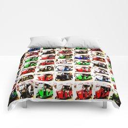 Sri Lankan Tuc Tuc Collage Comforters