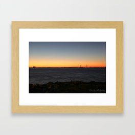 Jekyll Island Bridge at sunset Framed Art Print