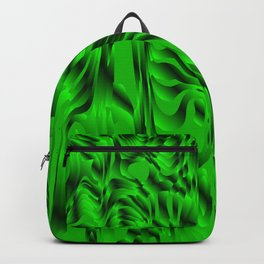 Blurry interweaving of green spots from the bright flowing lava and colored symmetrical blots. Backpack