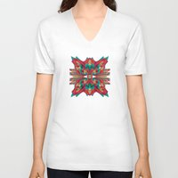 cyberpunk V-neck T-shirts featuring Summer Calaabachti Heart by Obvious Warrior