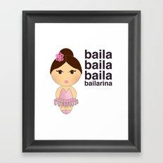 Baila bailarina Framed Art Print