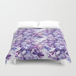 Dragonfly Lullaby in Pantone Ultraviolet Purple Duvet Cover