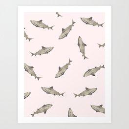SHARK PRINT Art Print