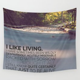 I like living - agatha christie Wall Tapestry