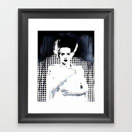 Bride of Frankenstein Noir  Framed Art Print