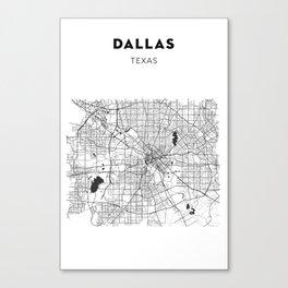 DALLAS MAP PRINT Canvas Print