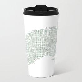 Map Manhattan NYC watercolor map Travel Mug