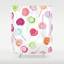 Candy and Sweets Lollipop Pattern Shower Curtain