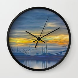 The Docks (Digital Art) Wall Clock
