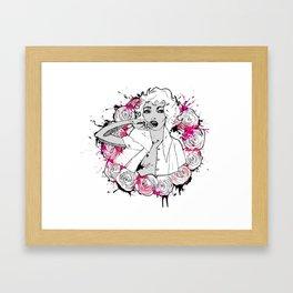 RING OF ROSES GRAFFITI Framed Art Print