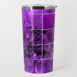 Chequered Flower design Travel Mug