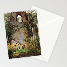 Caspar David Friedrich Monastery Ruins Eldena Stationery Cards