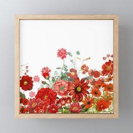 Vintage & Shabby Chic - Red Summer Flower Garden Framed Mini Art Print