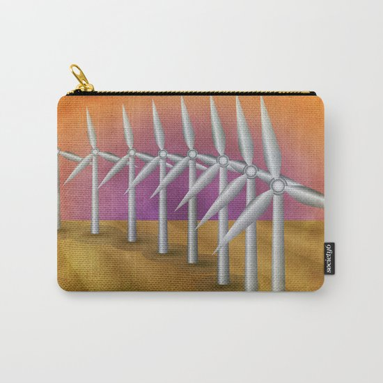 Windfarm at sunset Carry-All Pouch