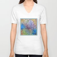 kaleidoscope V-neck T-shirts featuring Kaleidoscope  by Watercolor with Jean