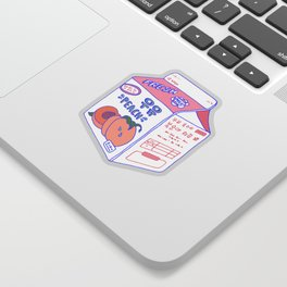 Peach Milk Sticker