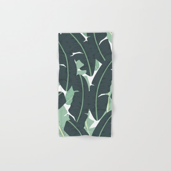 Banana Leaf Pattern #society6 #decor #buyart Hand & Bath Towel