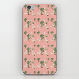 Alpaca with Cacti iPhone Skin