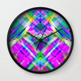 Colorful digital art splashing G469 Wall Clock