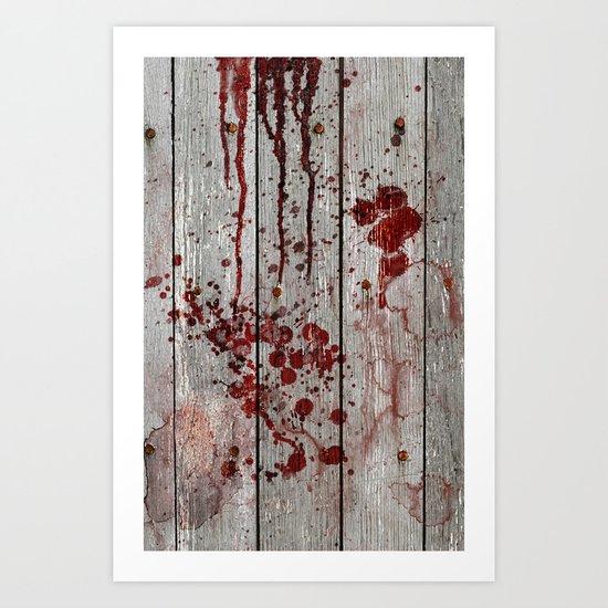 Murder Scene Art Print