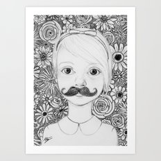 Portrait of Iris Art Print