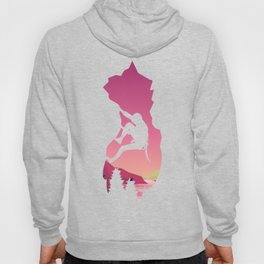 Climbing in the mountains Hoody