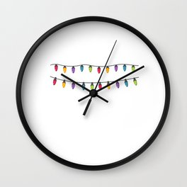 My Favorite Color is Christmas Lights Christmas Day Xmas Celebration Wall Clock