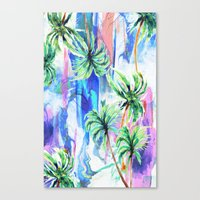palm trees Canvas Prints featuring Palm trees by Nikkistrange