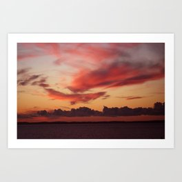 Sultry sunset Art Print