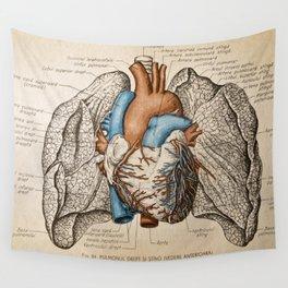 Vintage anatomy illustration Wall Tapestry