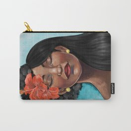 Hibiscus Versatile Afro Carry-All Pouch