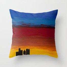 City Morning Throw Pillow
