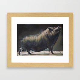 Miss Piggy Looses Her Pearls Framed Art Print