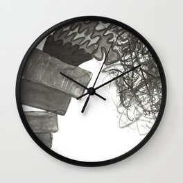 A Pile is Toppling Over Wall Clock