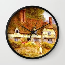 Vintage Country Cottage Estate Wall Clock