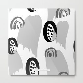 Abstract Markings IV Metal Print