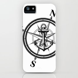 Nautica BW iPhone Case