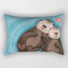 Otters in Love Rectangular Pillow