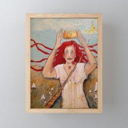 Crowning Herself Framed Mini Art Print