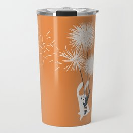 Bunny and Dandelion Bouquet Travel Mug