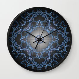 Blue Blades 2nd Variation Wall Clock