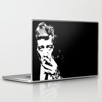 david lynch Laptop & iPad Skins featuring David Lynch smoke by Spyck