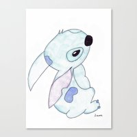 lilo and stitch Canvas Prints featuring stitch from lilo and stitch by Art_By_Sarah