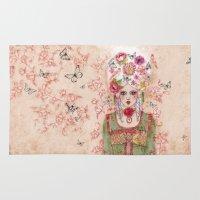 marie antoinette Area & Throw Rugs featuring Marie-Antoinette by Minasmoke