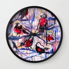 Christmas Robins Wall Clock