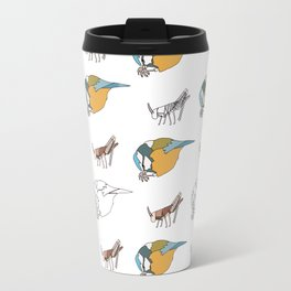 Great Tits eat Grasshoppers Travel Mug
